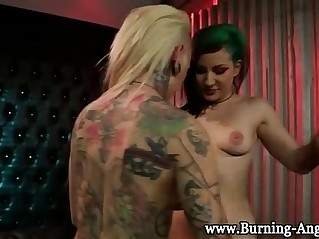 Tattoo emo punk lesbian oral