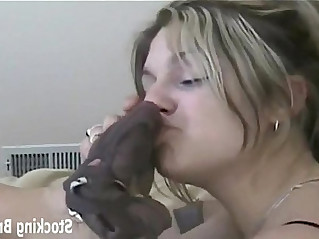 Lesbian roommates sucking toes in stockings