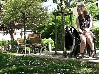 Teen Masturbating In A Public Park