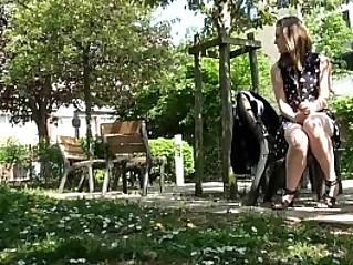Teen Masturbating In A Public Park
