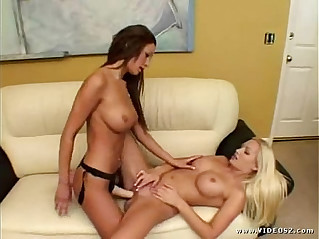 Amy Reid and Malibu Fuck with Strap