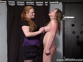 Taylor Hearts bizarre lesbian humiliation and boot licking submission of spanked