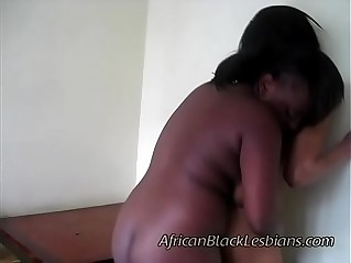 Horny African juggy gets seduced by a beautiful amateur