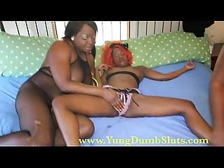 Yung teen amateur slut domminated by black milfs