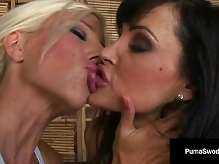 Beautiful lesbian duo puma swede and lisa ann lick some pussy