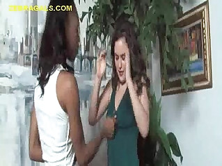 Black Girl Roughs Up White